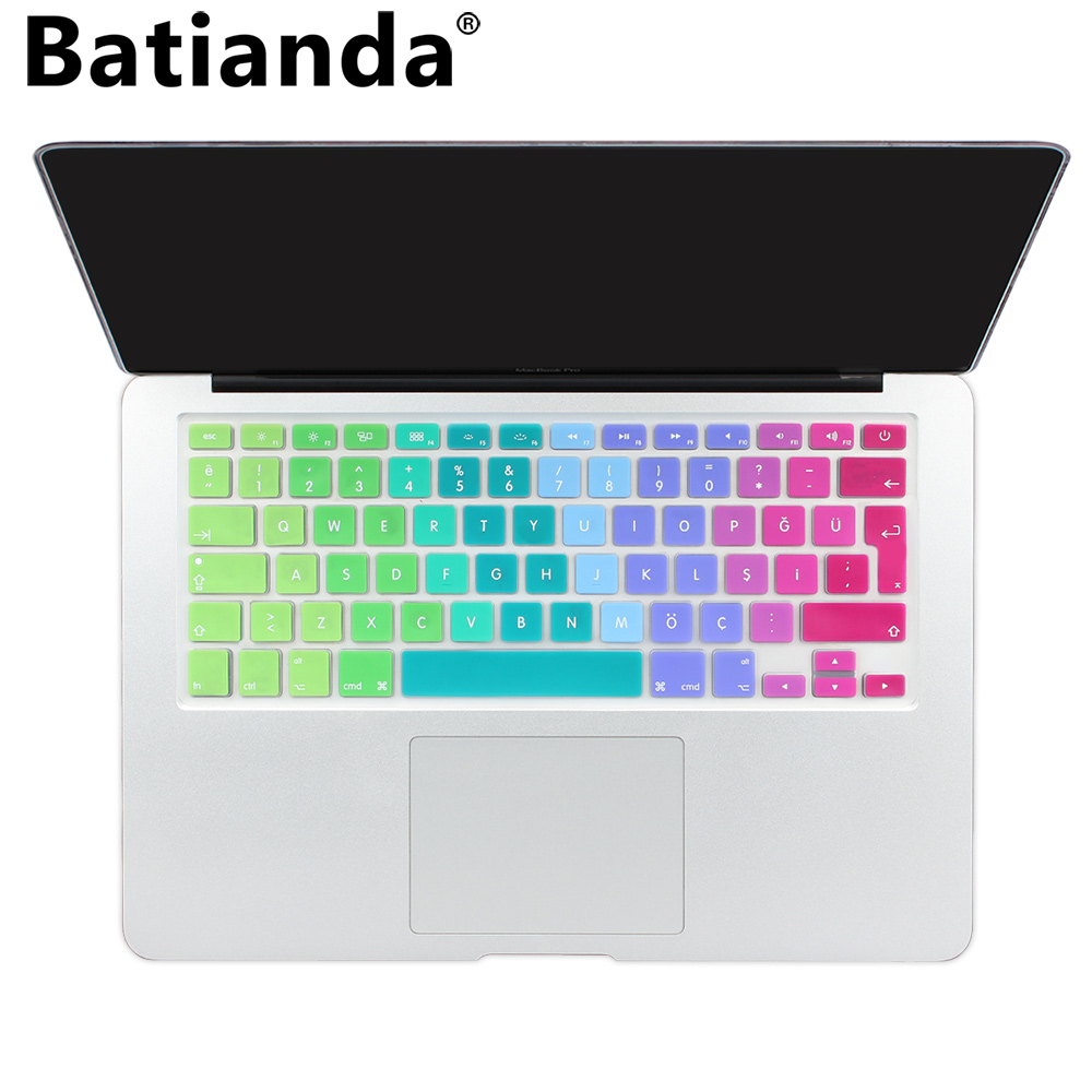 EU Turkish Version Silicone Keyboard Protector Stickers Skin For Apple Macbook P