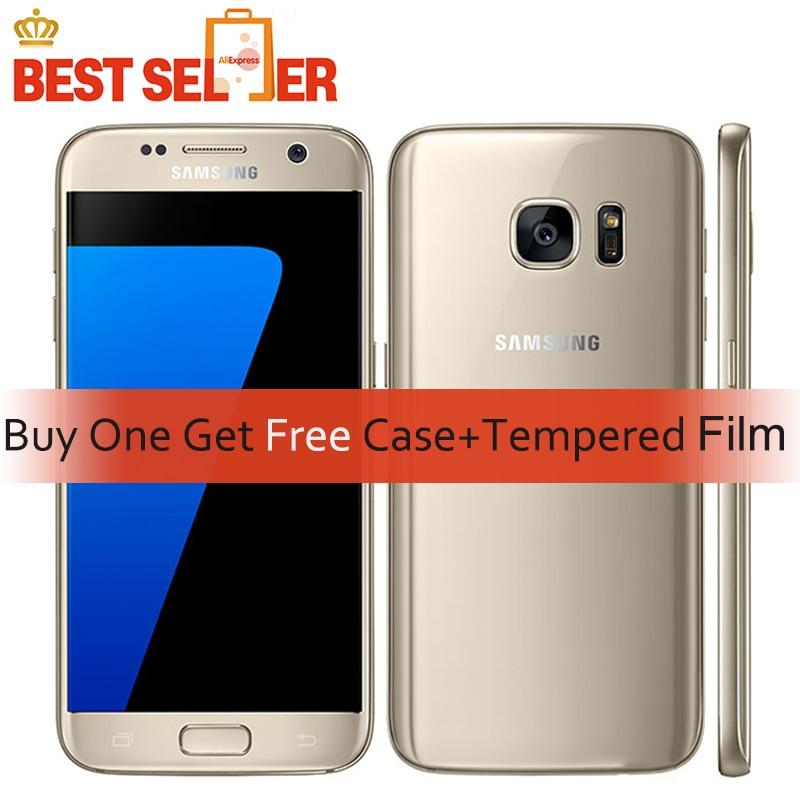 Разблокированный Восстановленный мобильный телефон G930AOriginal Samsung Galaxy S7 4G LTE мобильных телефонов G930F 5,1 дюймов 4G B Оперативная память 32 ГБ Встроенная память NFC gps 12MP