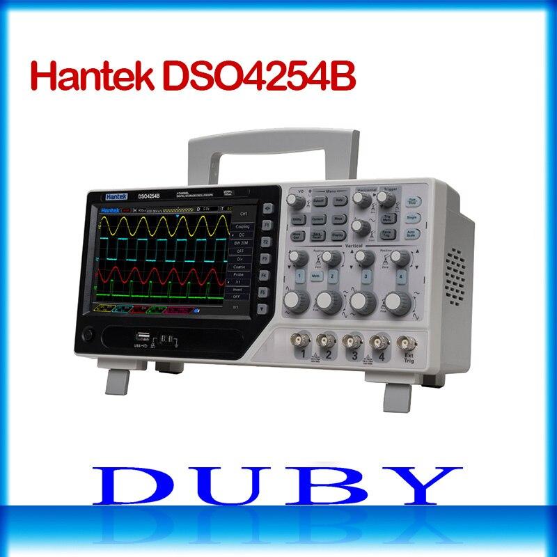 цена на Hantek DSO4254B 64K Digital Storage Oscilloscope 250MHz 4Channels 1GSa/s Real Time sample rate USB host and device connectivity