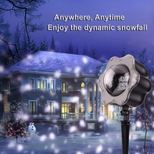 LED Snowfall Projector Lights, Christmas Light White Snow Waterproof Decoration Lamp Remote Landscape Holiday Party Event