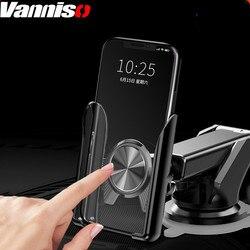 Vanniso grawitacji uchwyt na telefon samochodowy uchwyt na stojak na iPhone'a samochodowe do przedniej szyby powietrza do montażu na posiadacze telefonów dla iPhone X 7 Samsung w uchwyt samochodowy stojak