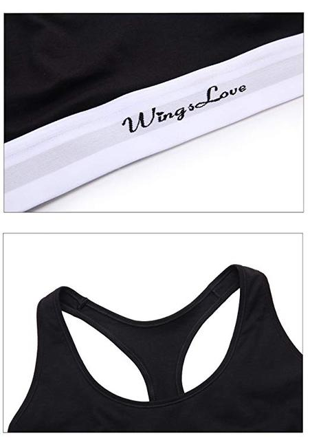 WingsLove Women's Sports Bra 3 Pack/1 Pack Bralette Wireefree Comfort Bra with Pullover Racerback