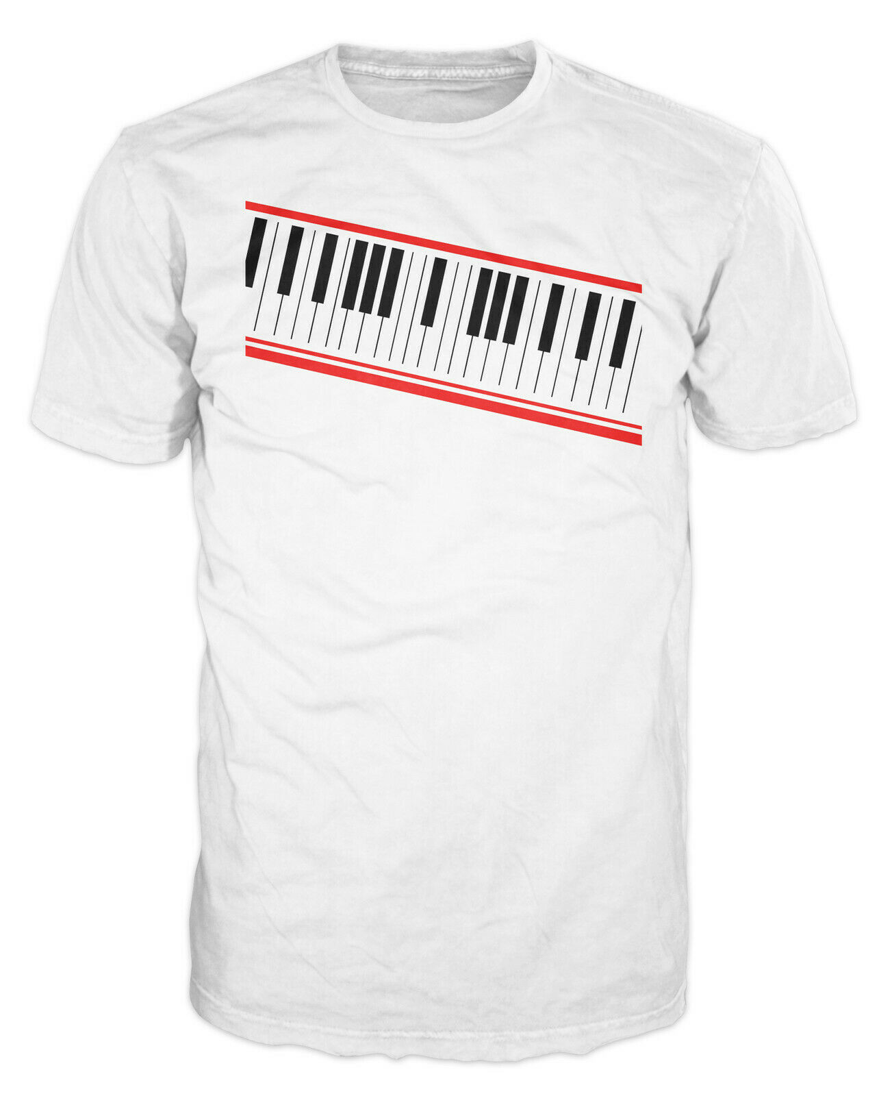 Digital Piano Keyboard 80s 90s Synth Music Michael Jackson T-shirt image