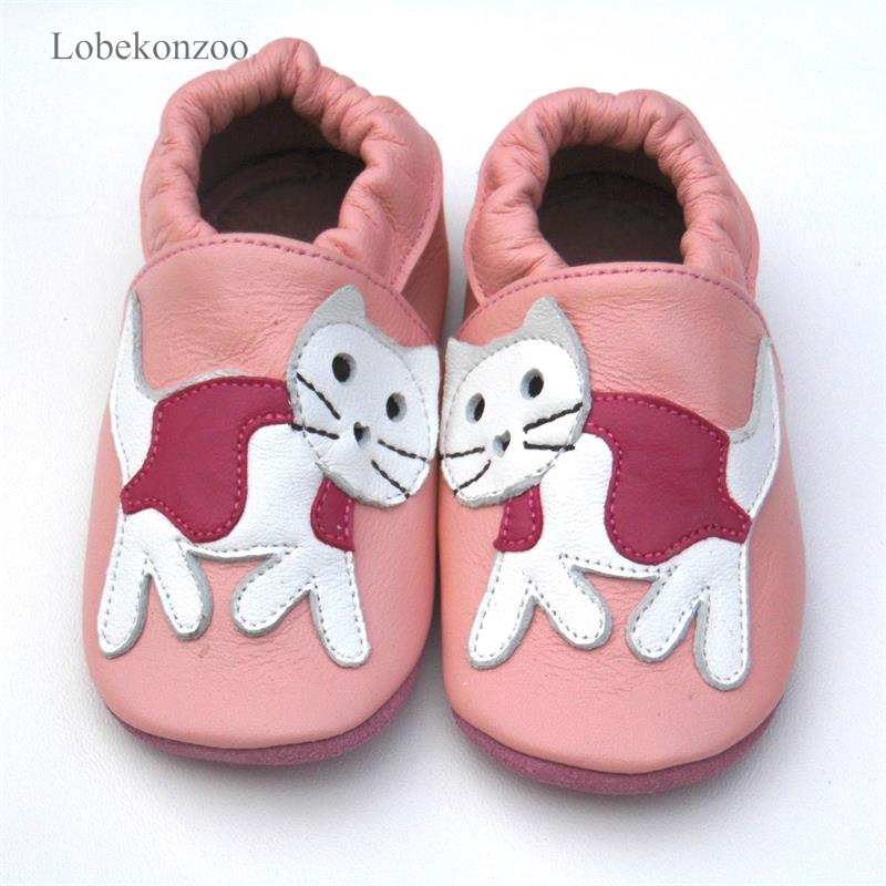 Image 2 - Lobekonzoo  hot sell baby girl shoes  Guaranteed 100% soft soled Genuine Leather baby First walkers   infant shoes Free shippingFirst Walkers   -