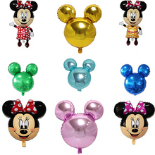 Mickey Minnie Mouse Foil Balloon Head Childrens Toys Happy Birthday Party Decoration Kids Big