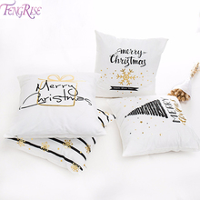 FENGRISE Christmas Pillow Case Natal Noel 2018 Cristmas Decor For Home New Year 2019 Ornament Gifts Navidad
