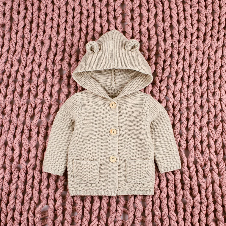 wanjares Autumn Winter Newborn Baby Girls Cartoon Ear Hooded
