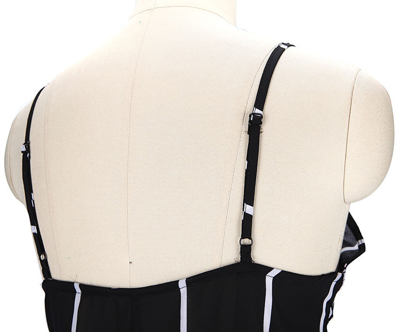 HTB1qnL9RXXXXXXpaVXXq6xXFXXXZ - Sexy Black and White Striped Playsuit Summer PTC 147