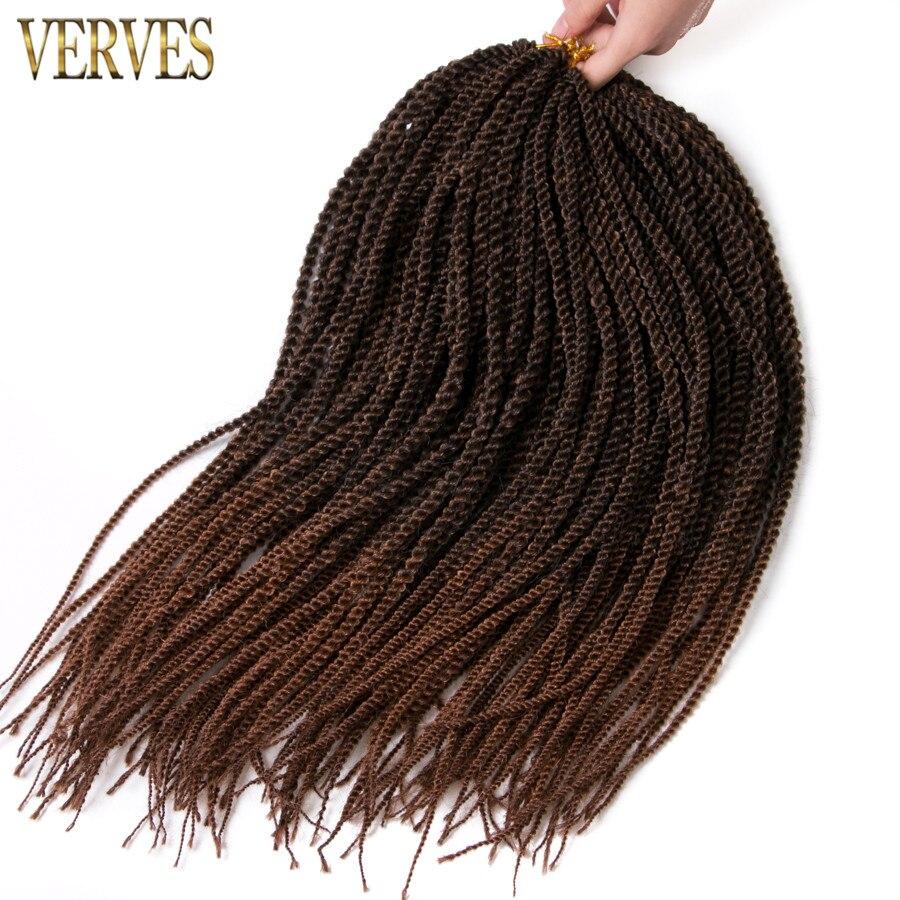 6 упак. 30strands/пакет нота косы ombre плетение волос verves вязанная косами волос Малый Сенегальский крутить волосы ...