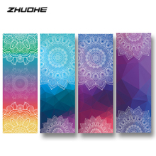 ZHUOHE Bikram Yoga Mat Towel Non-Slip Mandala Blanket Tapetes Tapis for Travel Pilates Fitness Exercise Sports