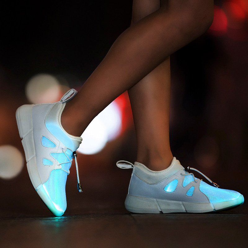 New Luminous Sneakers Kids LED Shoes With Lights Up Lighted Shoes Boys Girls Tenis Simulation Children Glowing Sports Shoes wholesale cheap lights up led luminous casual shoes high glowing with charge simulation sole for women