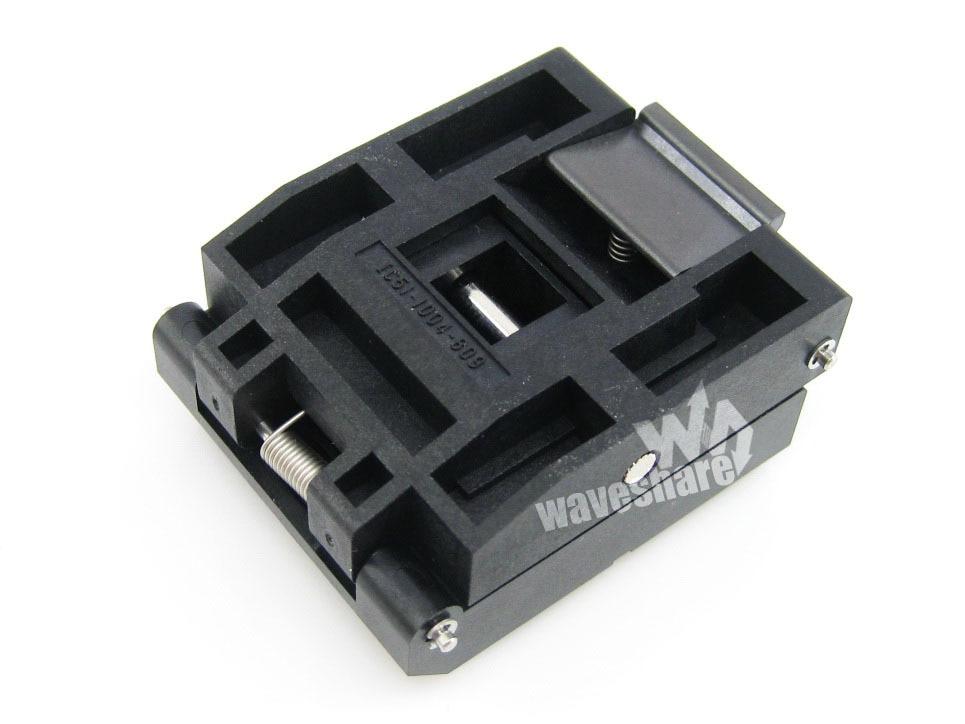 Module Qfp100 Tqfp100 Fqfp100 Pqfp100 Ic51-1004-809 Yamaichi Qfp Test Burn-in Socket Programming Adapter 0.5mm Pitch ssop56 tsop56 ic51 0562 1387 enplas ic test burn in socket programming adapter 0 635mm pitch 7 0mm width yamaichi clamshell