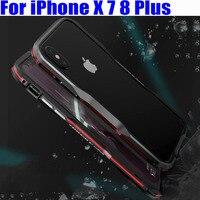 Case For IPhone X 7 8 Plus Luxury Original Luphie Dual Blade Design Aluminum Metal Frame Case Cover for iPhoneX IPX08