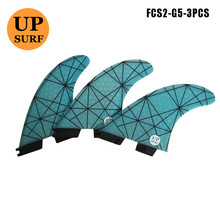 FCS II Tri fin set Fiberglass new design FCS2 Fins G5 Light Blue RED YELLOW free shipping 2016 high quality fcs ii fins with fiberglass honey comb material for surfing tri set g5 m fcs 2