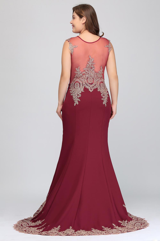 HTB1qnLceHYI8KJjy0Faq6zAiVXaIPlus size Evening Dress Burgundy Formal Gown