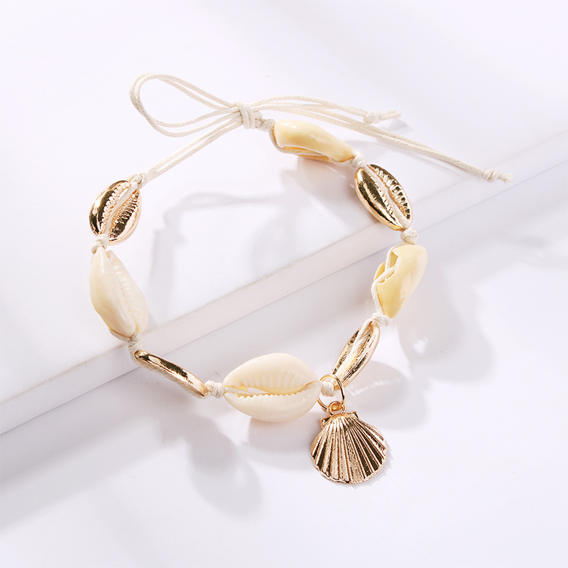 Lalynnlys New Hot Shell Conch Choker Necklace Women Girls Vintage Statement Multi-layer Necklaces Summer Beach Jewelry N68671 28