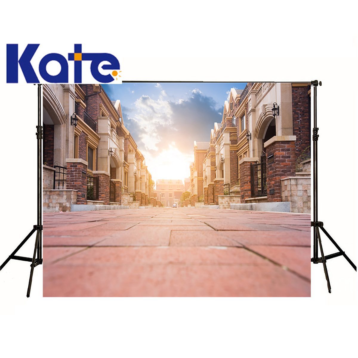 Kate City Photographic Background Building European Retro Street Sunlight Tiles Photocall Fabric Backdrops Boy Wedding сумка kate spade new york wkru2816 kate spade hanna