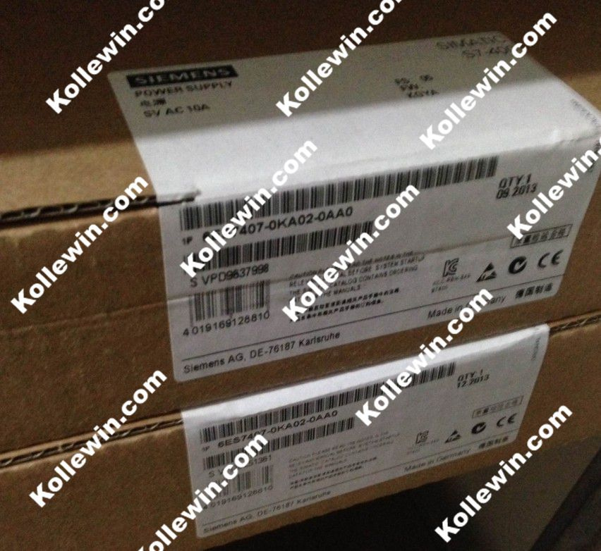 NEW Original 6ES7407-0KA02-0AA0 Powersupply, SIMATIC S7-400 6ES7 407-0KA02-0AA0,120/230V UC, 5V DC/10A, 6ES74070KA020AA0 6es7953 8lf31 0aa0 6es7 953 8lf31 0aa0 simatic s7 micro memory card for s7 300 c7 et 200 3 3 v nflash 64 kb new in box