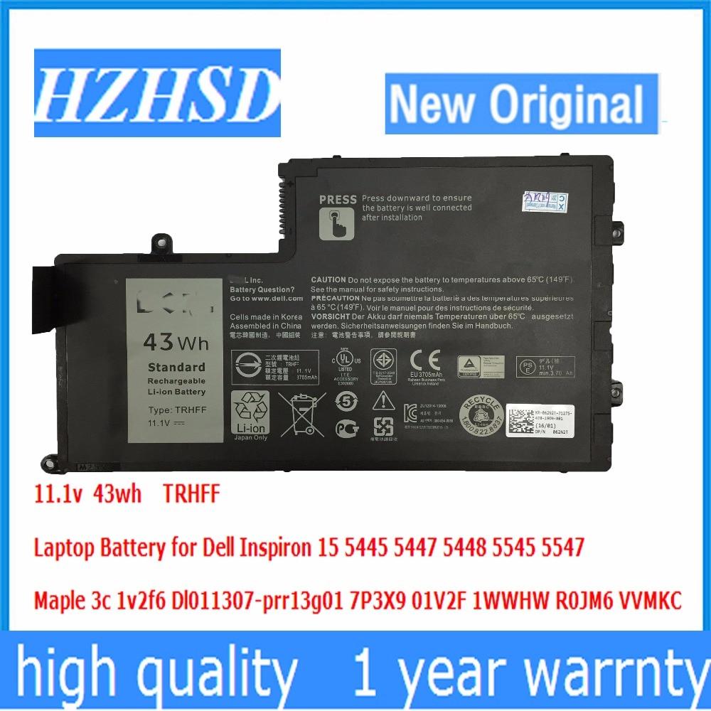 11.1V 43wh New Original Laptop Battery TRHFF For Dell Inspiron 14 14-5447 15 15-5547 Maple 3C 1V2F6 DL011307-PRR13G01 01v2f6
