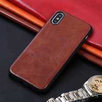 10PS Low price Phone Cases For iPhone X Xs Max Cover PU Leather Oil wax skin TPU Silicone Case For iPhone 6 6S 7 8 Plus Shell