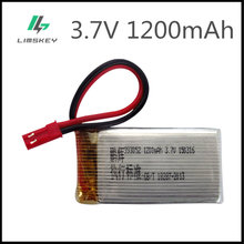 Bateria 3.7 v 1200 mah lipo para mjxrc t64 t04 t05 f28 f29 t56 t57 huanqi 887 rc bateria lipo 3.7 v 1200 mah 993052 jst