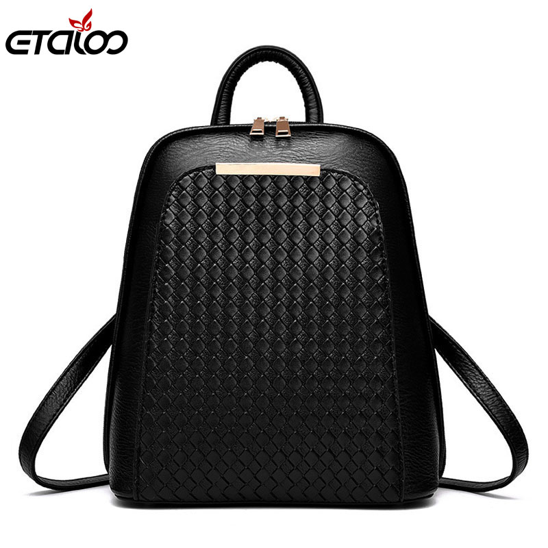 2017 tide female backpack new students fashion casual women's bag PU leather bag