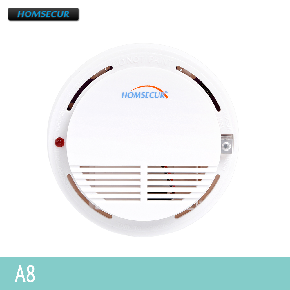 HOMSECUR A8 433MHz Wireless Smoke/Fire Alarm Detector For Our Alarm System