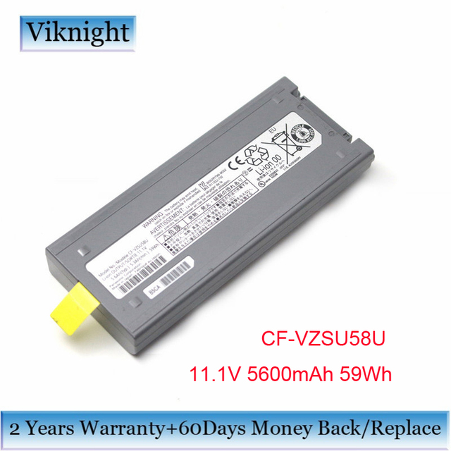 Original CF VZSU58U Battery For PANASONIC Laptop Battery CF VZSU48 CF VZSU48R CF VZSU58U 11.1V 5600mAh 59Wh