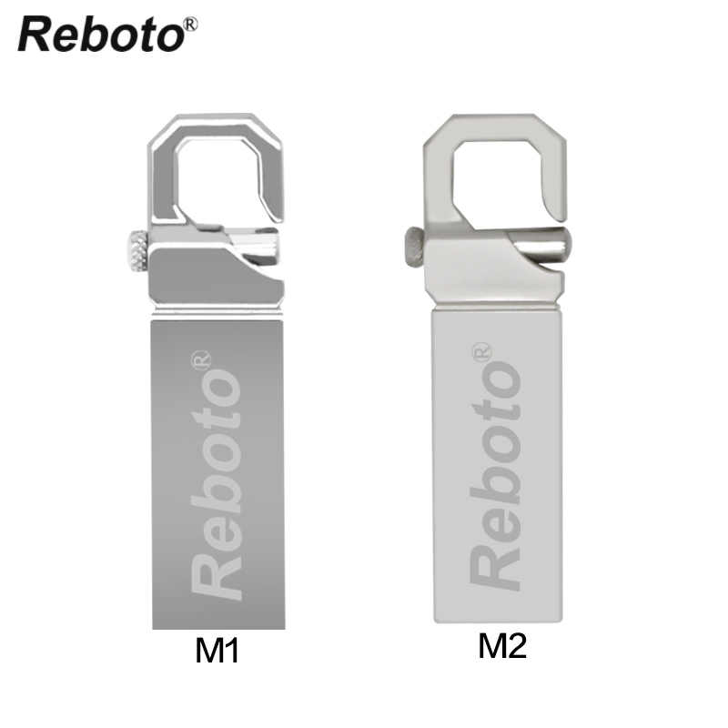 Reboto USB Flash Drive Metal Key Ring Pen Drive 4GB 8GB 16GB 32GB 64GB Thumb Pendrive USB 2.0 Memory Stick U Disk for Gift