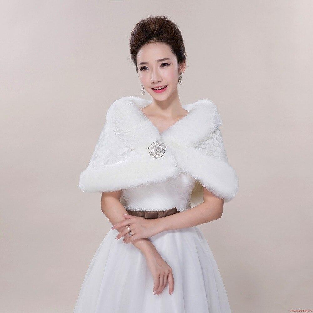 Wedding Gown Wraps: Winter Wedding Bride Wedding Bridesmaid Dress Cape Fur