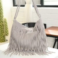 Vintage Women Fringe Suede Handbag Big Tassel Adjustable Shoulder Bags Female Crossbody Messenger Bags Fashion Casual