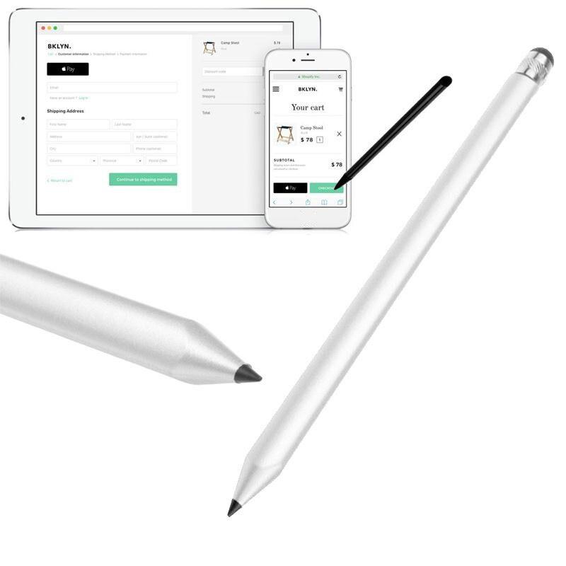 2019 Yeni Kapasitif Dokunmatik Kalem Stylus Ekran Moda Gümüş Tablet PC Için Akıllı Telefon Kapasitif Dokunmatik Ekran Cihazları