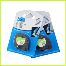 10PCS mixed models available compatible Dymo LetraTag 91200 BLACK ON WHITE paper label Tapes 12mm x
