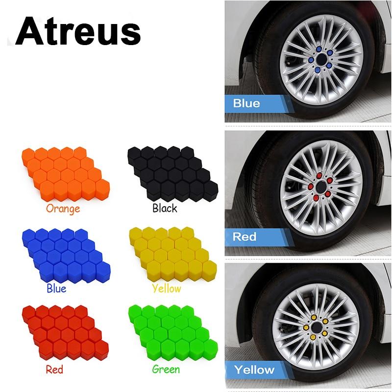 Atreus 20X For VW polo passat b5 b6 Mazda 3 6 cx-5 Toyota corolla Ford focus 2 3 Car Wheel Tires Hub Caps Screw Covers Styling