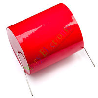 Wholesale and retail 5pc MKP 250V 100uf long copper leads Axial Electrolytic Capacitor audio parts free shipping