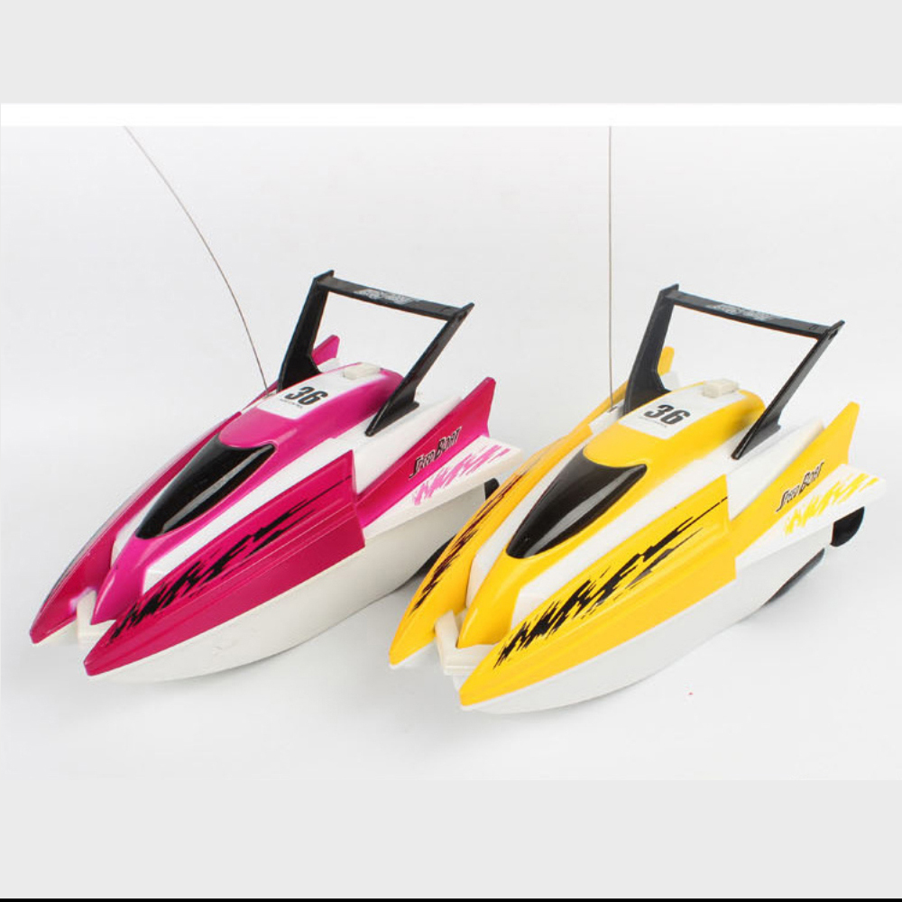 Image 4 - 4 channels RC Boats Plastic Electric Remote Control Speed Boat  Twin Motor Kid Chirdren Toy