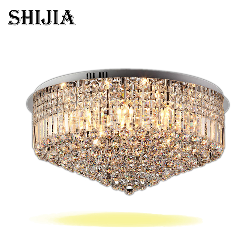 Modern LED Round Crystal Ceiling Lights for bedroom Foyer Hotel hall Ceiling Lamp дневные ходовые огни 0 5 2 9 drl 14 16 100% waterproof easy