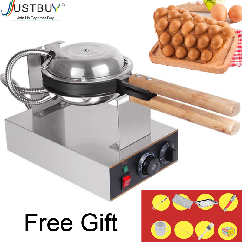 Commercial Electric egg bubble waffle maker machine eggettes puff cake iron maker machine bubble egg cake