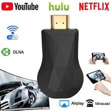 Llave electrónica con pantalla WiFi inalámbrica, Dongle con HDMI, YouTube, Netflix, AirPlay, Miracast, TV Stick 2, 3