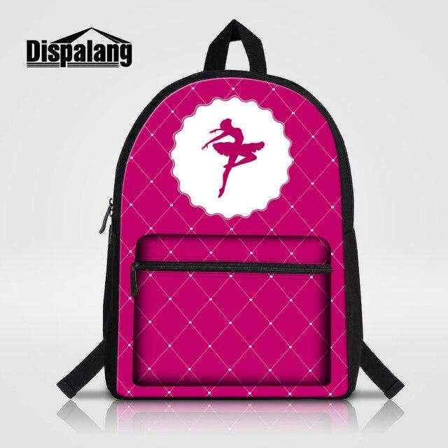 Dispalang Ballet Laptop Backpack Fashion Girls Travel Backpack High School  Backpacks Casual Student School Book Bag mochila 88ed82fd68972