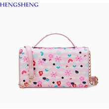 Free shipping hengsheng forest women handbags with quality leather women messenger bags of cartoon forest female messenger bags