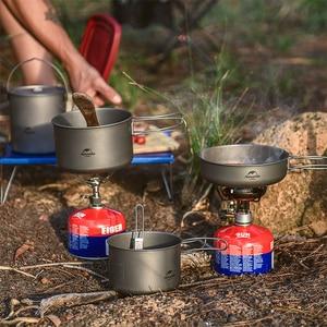 Image 2 - Naturehike titanyum 2 3 kişi sofra açık piknik kamp tencere tava Ultralight titanyum kamp tencere