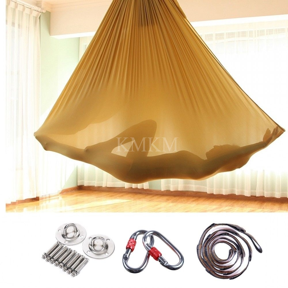 Yoga Swing Aerial Hammock Trapeze Inversion Anti-gravity Large Strong 5x2.8m Yoga Body Building Workout Fitness Equipment