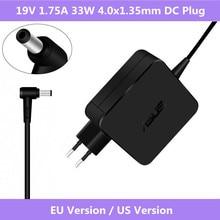 19V 1.75A 33W 4.0x1.35mm do laptopa AC adapter AC ładowarka sieciowa dla ASUS Vivobook S200 S220 X200T X202E X553M Q200E X201E Notebook