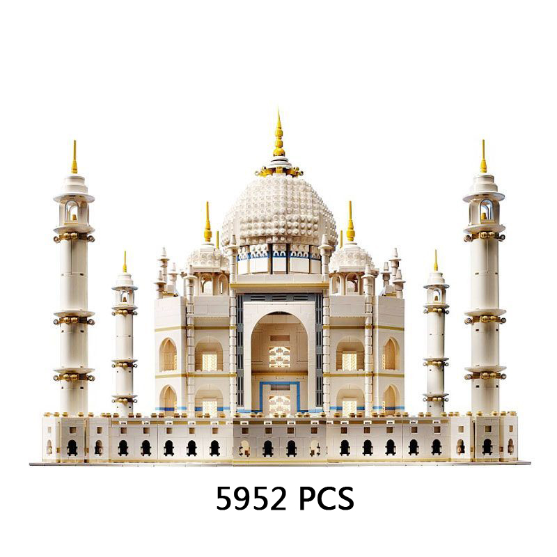 Hot World famous Architecture Taj Mahal India city building block model lepine bricks 10189 collection toys for children gifts lepin17001 city street tai mahal model building blocks kids brick toys children christmas gift compatible 10189 educational toys