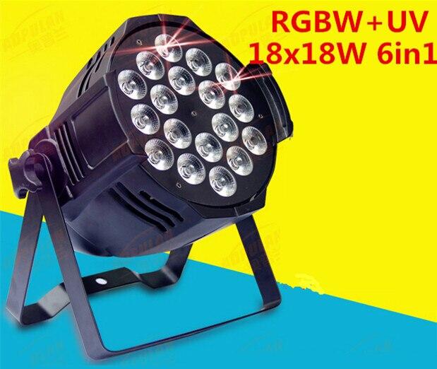 dj lighting 18x18w rgbwa uv 6in1 led par light 12PCS dj стойка athletic dj 6 desk