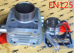 Części zamienne do silnika zespół cylindra motocyklowego 62mm dla Suzuki EN125 uaktualniony do EN150 150cc zmodyfikowane EN 125 150 w Silniki od Samochody i motocykle na