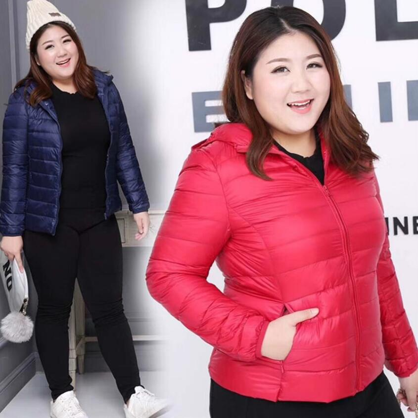 Plus Size 8XL Winter   Down     Coat   Woman Quality Thin Female   Down   Jacket Slim Models Collar Korean Slim Women   Coat   Minimalist