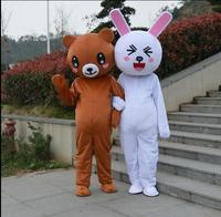 Кролик бурый медведь костюм с мультяшным принтом предложение реквизит ходить кукла костюм на заказ.