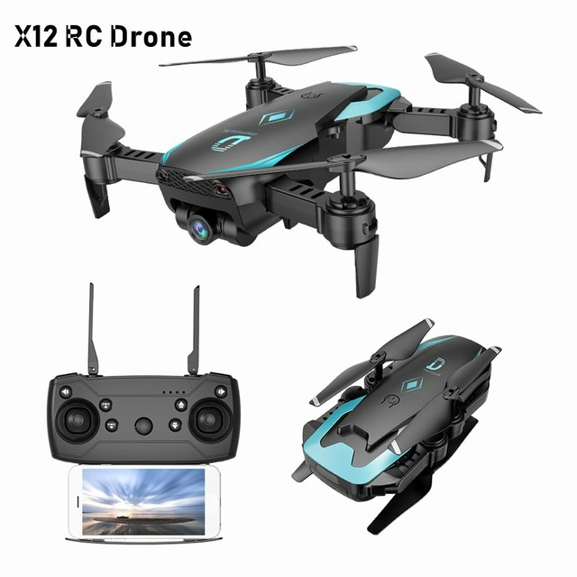 X12 FPV RC Foldable Dron with Camera HD Wide Angle Wifi RC Quadcopter Altitude Hold One Key Return Headless Mode3D Flip